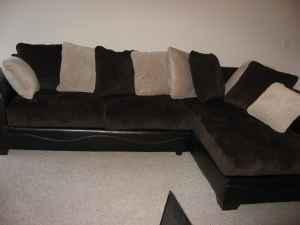 Ashley Furniture Victory Sectional Ashley Furniture Victory Chocolate  Sectional W Pillows
