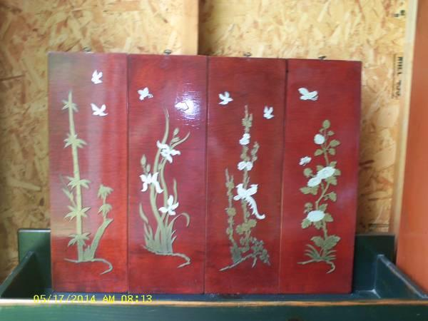 Asian Seasons Wall Plaques - $10