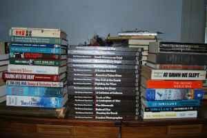 assorted military, war, gun,  other books - $50 crestwood