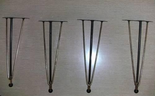 Atomic 1950u0027s Wrought Iron Furniture Legs (8 For Sale In Upland, California