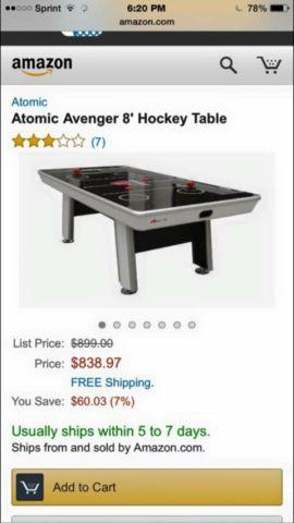 Atomic Avengers Air Hockey Table For Sale In San Jose