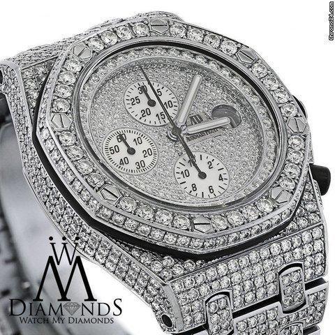 Audemars Piguet Full Diamonds Royal Oak Offshore Watch Diamond Dial