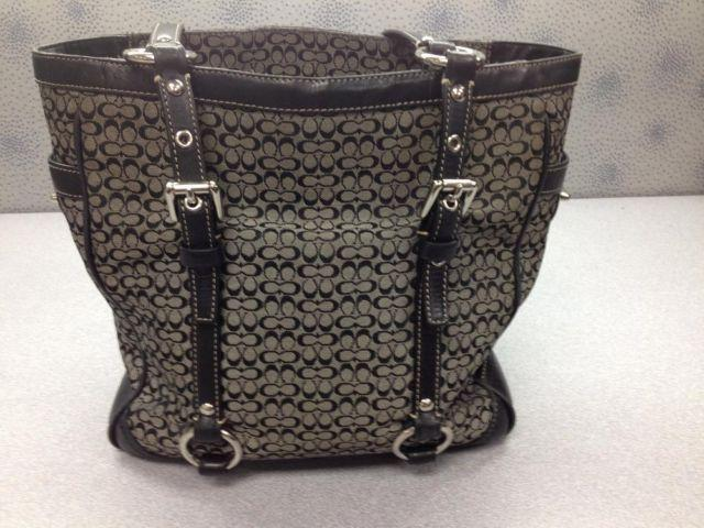 1b7f8417ff1e7 czech large black signature coach shoulder bag 162f4 2e97d  low cost  authentic coach f11526 black signature tote bag purse ca2eb 0dc9d