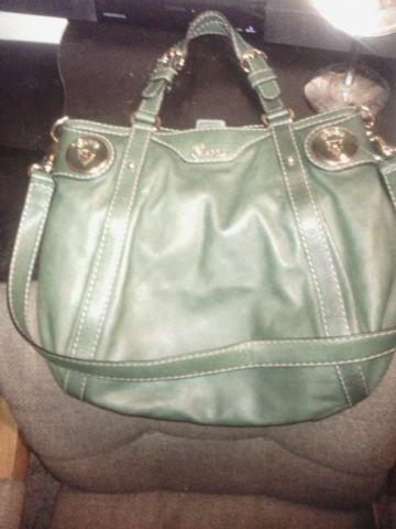 authentic Gucci vintage green leather hobo bag