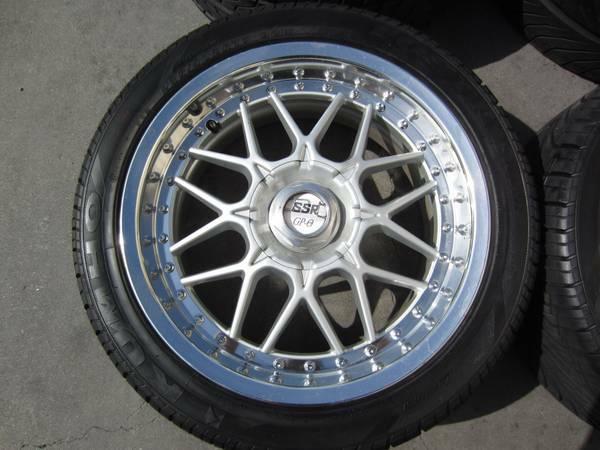 authentic jdm  ssr gp   piece  hole wheels  tires  sale  houston texas