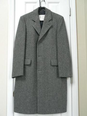 Authentic London Fog Herringbone Mens Winter Coat