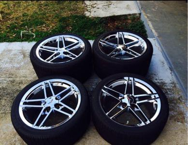 Authentic Z06 Chrome rims & GY RunFlat tires
