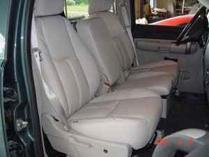 Auto Upholstery Leather Seat front & rear -2-row cars &