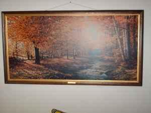 Autumn Leaves Robert Wood Picture Lincoln For Sale