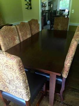 Awesome Pier One Cherry Dining Table 8 Chairs And