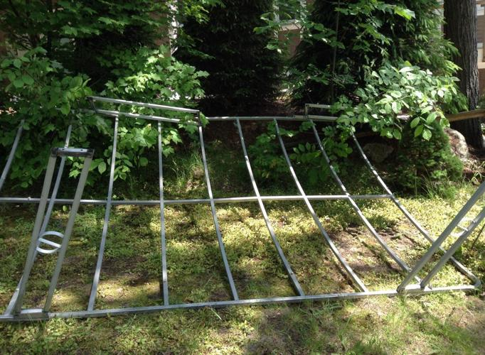 Awning frame for 1988 Pontoon Boat for Sale in Traverse ...
