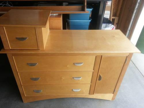 Baby Dresser Changing Table Move Able Top Drawer By
