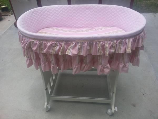 Baby Girls Bassinet - $40