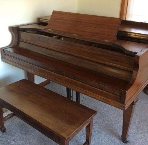 Baby grand piano smaller size for sale in evansville for Size of baby grand piano
