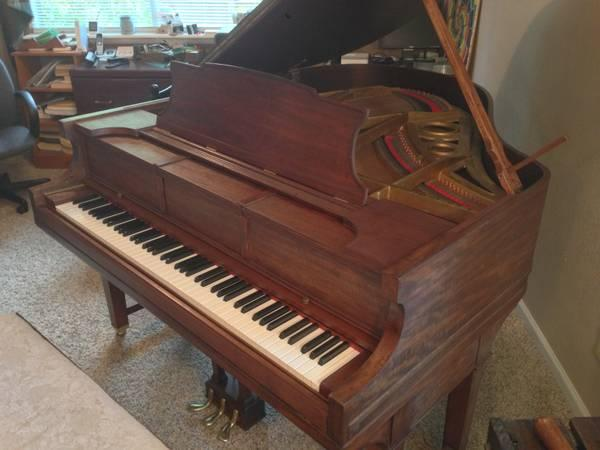 Baby grand piano weber refurbished for sale in village for How big is a baby grand piano