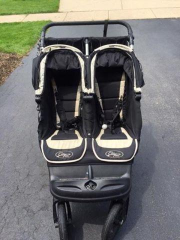 Baby Jogger City Elite Double Jogging Stroller Excellent