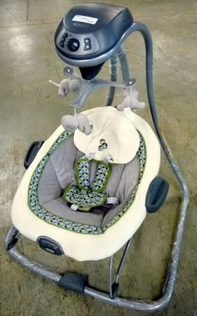 Baby Swing And Bouncer Combo For Infant Nursery Brand New