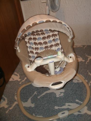 Baby swing, mini crib, 13 pc reg crib set