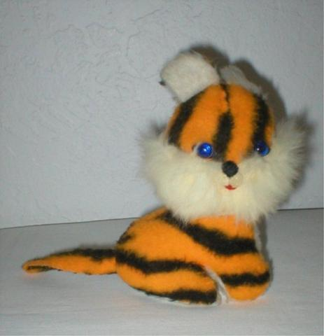 Baby Tiger with Blue Eyes - Vintage Toy - 1960's-70's -