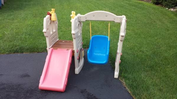 baby toddler swing set with slide for sale in montgomeryville pennsylvania classified. Black Bedroom Furniture Sets. Home Design Ideas