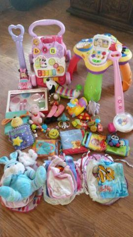 Baby toys, clothes car seats etc