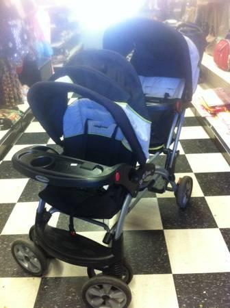 BABY TREND DOUBLE STROLLER - $95