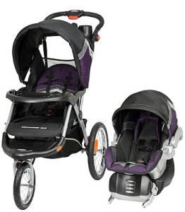 baby trend expedition travel stroller system purple and. Black Bedroom Furniture Sets. Home Design Ideas