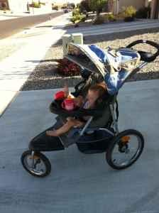 baby trend jogging stroller - $85 (abq/RR)