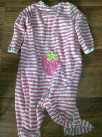 babygirl bibs, 9 month sleepers, 12 month onesies