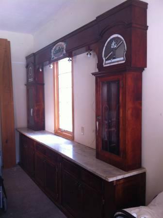 Back Bar Soda Fountain And Pharmacy Wall Unit Shelf For