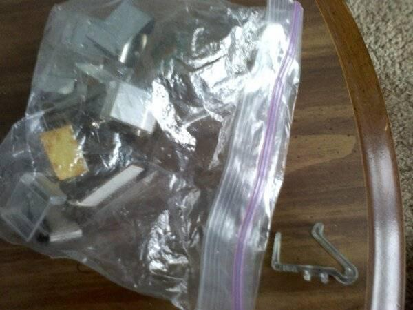 Bags of metal and plastic clips