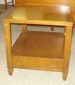 Baker Side Table- STUNNING! - $135 (Lansing)