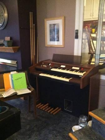 BALDWIN ORGAN AND STOOL - $125