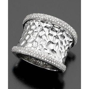 Balissima By Effy Collection Sterling Silver Ring Diamond