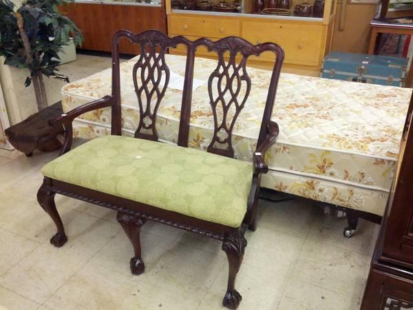 Ball and claw foot carved settee for sale in reading for Furniture reading pa