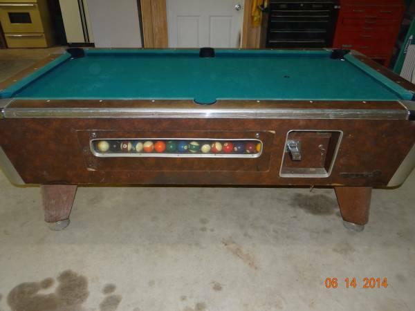 Bar Room Pool Table + Accessories   $800