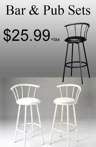 Bar stool black or white liquidation wholesale