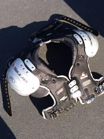 BARELY USED RAWLINGS ADULT FOOTBALL SPARTAN SHOULDER PADS - $100