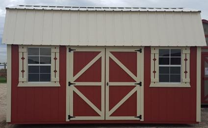Barn Red and White 12'x20' Side Lofted Storage Shed