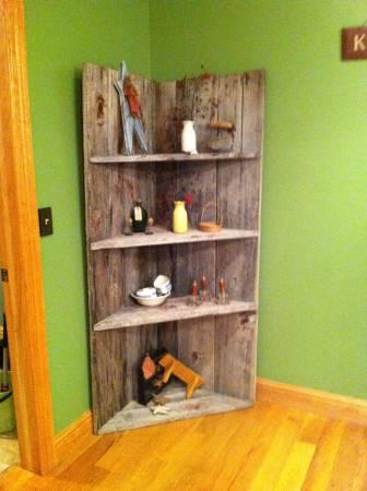 Barn wood corner shelf for sale in catlettsburg for Barnwood shelves for sale