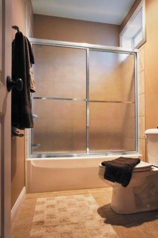 Basco 877560cl Tub Shower Door Silver Frame Clear Glass New For Sale