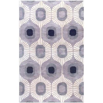 BASHIAN Chelsea Collection Curtain Grey 5 ft. x 7 ft. 6