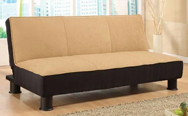 Basic Futon Two Tone Sofa Bed 140