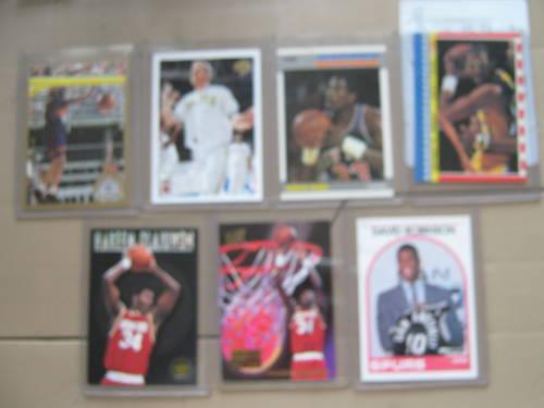 Basketball Cards , Lot of 7 Mint Cards , Bird , Magic , Jabbar ,  Mor