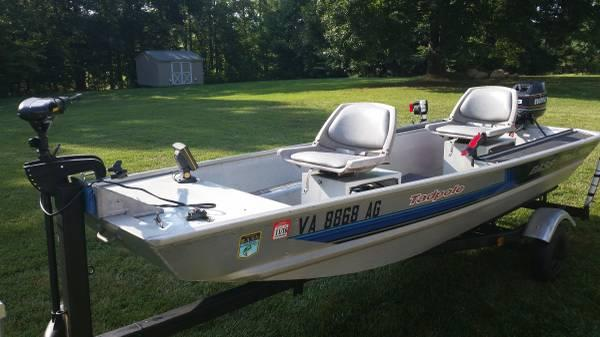 Bass Tracker Boat Trailer 8hp Envirude Ready To Fish