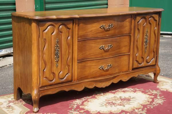 Bassett French Provincial Vintage Dresser Credenza W