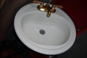 BATHROOM SINK GOLD TONE FAUCET WINTER SPRINGS For