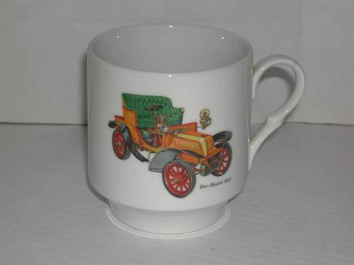 BAVARIA Schumann Arzberg Germany china mug wantique 1903 Dion Bouton