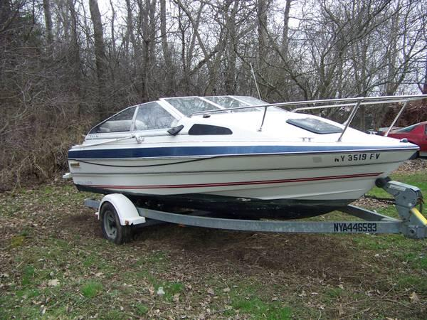 Bayliner Capri Boat 1986 Cash Or Trade For Mini Z Snowmobile For Sale In Waterville New York