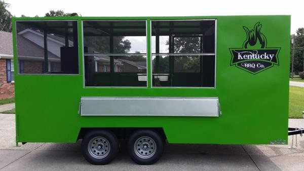 BBQ  Concession Trailer Food Truck - $7900